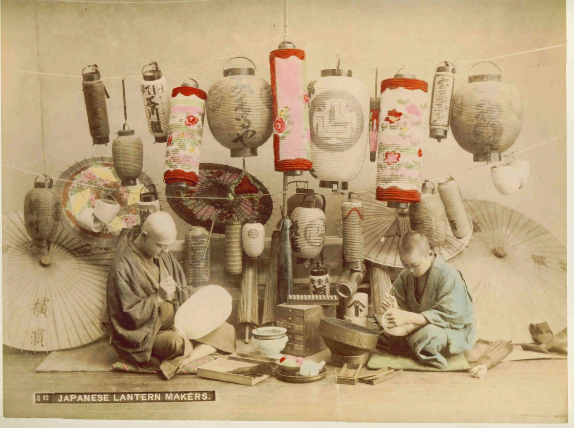 Japanese Lantern Makers Albumen